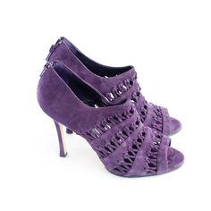 Manolo Blahnik Purple Boot