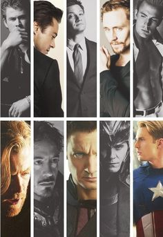 While I am a very geeky person and love The Avengers as such, I've just gotta briefly mention that I find all of these men unfairly attractive. :p *swoon*