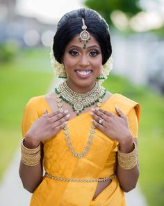 Bridal Makeup Images, Bridal Makeup Looks, Indian Bridal Makeup, Bridal Looks, Indian Wedding Receptions, Wedding Mandap, Tamil Wedding, Wedding Looks, Wedding Day