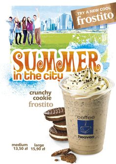 #coffeeheaven #summerdrinks #summerinthecity #artposter #frozencoffee #frostito