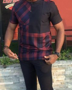 Style By Mansion African Wear Styles For Men, African Shirts For Men, African Dresses Men, African Attire For Men, African Clothing For Men, African Style, African Women, African Outfits, Nigerian Men Fashion