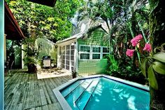 Pool garden at Classic Key West Estate | Key West Rentals...7 bed 5 bath, 6,000 for one week..... I think I need to start saving....
