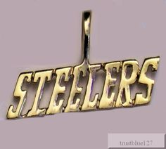 Pittsburgh Steelers Team Name Pendant 24k Gold or Rhodium Plated Fan Jewelry #PittsburghSteelers