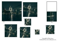 London Thames View of St Pauls Gift Tag Spiral Pyrimage on Craftsuprint - Add To Basket!