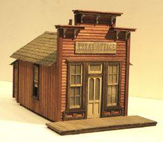 The Denver, Durango & Silverton Railroad Train Miniature, Miniature Houses, Old Western Towns, Building Front, Birdhouse Designs, West Town, Westerns, Small Buildings, Model Train Layouts