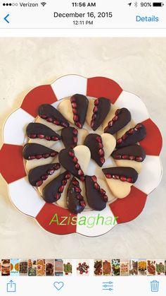 Pomegranate short bread cookies