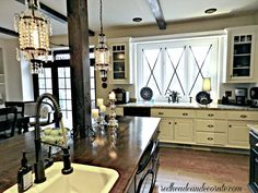 DIY Kitchen Makeover by stay @ home Mom turned decorating blogger...redheadcandecorate.com