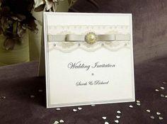 Vintage Pearl - Handmade Wedding Invitations by WEDDINVITES