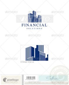Home & Office Building Logo Template  #logo #design #print #marketing #consulting #business #finance #management #solution