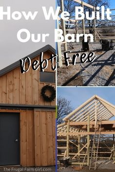 How We Built a Barn Debt Free How to Build a Board and Batten Barn DIY . Build a barn without going into debt. Tips and tricks to help you that helped. Homestead Farm, Homestead Survival, Survival Skills, Homestead Layout, Horse Barn Plans, Farm Layout, Future Farms, Farm Barn, Farm Shed