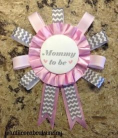 diy mommy to be pin - dollar store craft