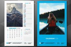 Wall Calendar 2018 by AntartStock on @creativemarket