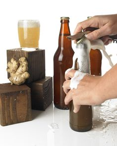 homemade ginger beer -- super simple and gluten free :)