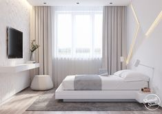 A minimalistic design project in the style of cyber punk. Ultra-modern design in the accents of cyberpunk - smart interior for a talented host. Luxury Bedroom Design, Home Room Design, Master Bedroom Design, Bed Design, Interior Design, Bedroom Designs, Bedroom Apartment, Home Decor Bedroom, Modern Bedroom
