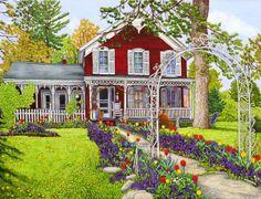 Springtime in Springville, NY by Thelma Winter
