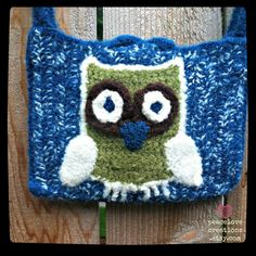 Crochet Felted Owl Bag by peacelovecreations on Etsy, $37.00