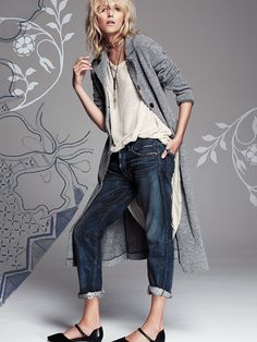 Free People Textured Trench Duster at Free People Clothing Boutique