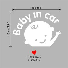 Carefully Baby In Car Stickers Decorations Nursery Kids Children Room wall Sticker 426 Decal Poster Mural Wallpaper