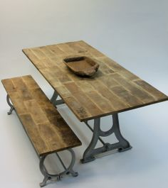 Rustic Design, Drafting Desk, Furniture Design, Dining Table, Vintage, House Ideas, Home Decor, Decoration Home, Room Decor