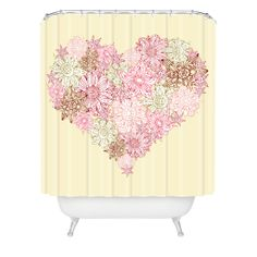 Sabine Reinhart Heart One Shower Curtain | DENY Designs Home Accessories