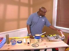 purchase the proper tools to paint a ceiling