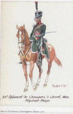 25e régiment de chasseurs à cheval 1805 Adjudant-Major