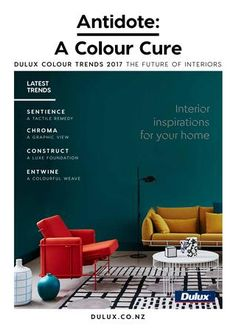 Antidote: A Colour Cure (Trends)  Dulux New Zealand Colour Trends 2017