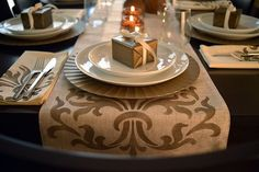 Thanksgiving and Christmas Table Setting Idea by Modern Masters