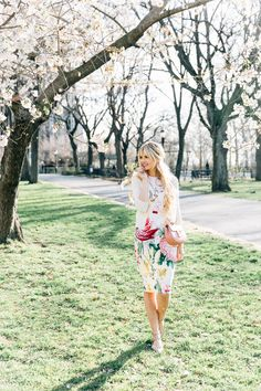 Barefoot Blonde Amber in Sakura Park with Nordstrom