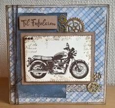 Handmade by Ann Baird. Stamps from Darkroom Door (Classic Motorcycles)