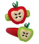 Apple FELT STITCHIES (in the hoop)  These fun Apple Felt Stitchies are sized to complement the Snap Barrette Covers or Alligator Clip