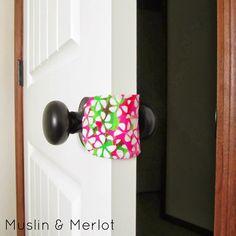 Door Muffler by Muslin & Merlot. Free printable Template!