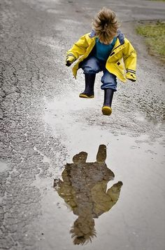 Little boys in puddles jumping,  (2nd Place Dani Girl at Photo Challenge Winners Yellow  MAY 27, 2011)