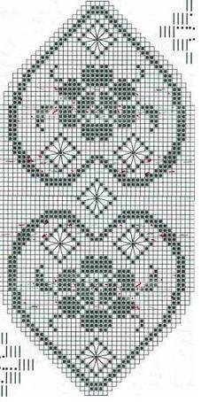 BearMtn Crochet przypięte (a) to od projektów Nowy Filet Crochet pokładzie Crochet Table Runner Pattern, Crochet Doily Patterns, Thread Crochet, Crochet Motif, Crochet Designs, Crochet Doilies, Free Crochet, Cross Stitch Embroidery, Cross Stitch Patterns