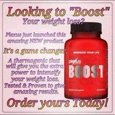 ENERGIZE YOUR LIFE! With New Plexus Boost, a thermogenic companion product to Plexus Slim.  All Plexus products come with a 60 day money back guarantee, what do you have to lose? Visit my site  www.plexusslim.com/brandydille Ambassador # 241897  Please like and share my page Plexus Pink https://www.facebook.com/pages/Plexus-Pink/644432382293318?skip_nax_wizard=true