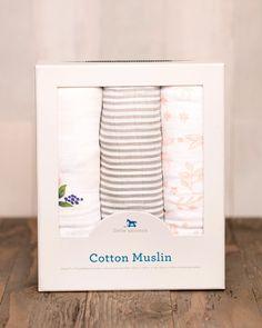 Cotton Swaddle Set - Garden Rose
