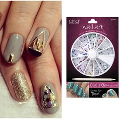 The hottest nail art trends you can do at home ❤ liked on Polyvore