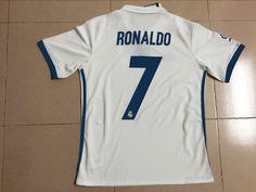2016/17 real madrid ronaldo jersey Real Madrid Ronaldo Jersey, Real Madrid Soccer, Sport Wear, Sports, How To Wear, Tops, Real Madrid Football, Hs Sports, Athletic Wear