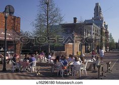 outdoor cafT, Augusta, GA, Georgia, Outdoor cafT on River Walk in downtown…
