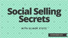 Elinor Stutz, social selling expert and sales thought leader, chats about the ins-and-outs of social selling from a sales perspective in this interview. Discover how entrepreneurs, small businesses, consultants and lean sales teams can make the most of social selling.