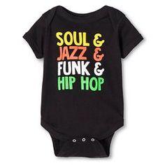 Infant Music Genres Bodysuit- Black
