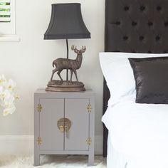 Rama & Sita Lilac Grey Bedside Cabinet