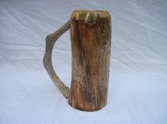Wooden Beer Mug, Beer Stein, Woodworking, Handle, Vase, Mugs, Tableware, Furniture, Vintage