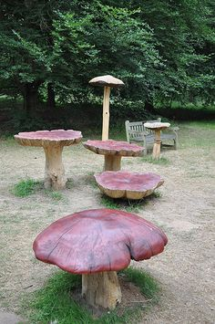 Fungii Fun, children's play area, Royal Botanical Garden Kew, England