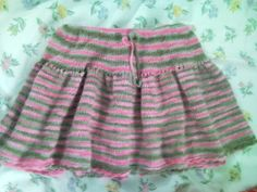 Free Knitting Pattern - Toddler & Childrens Clothes: Adorable Short Skirt for Toddlers