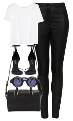 """Untitled #1804"" by hiitsbre ❤ liked on Polyvore featuring Topshop, Yves Saint Laurent, T By Alexander Wang and Chanel"