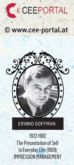 ERVING GOFFMAN 1922-1982 The Presentation of Self in Everyday Life (1959) IMPRESSION MANAGEMENT