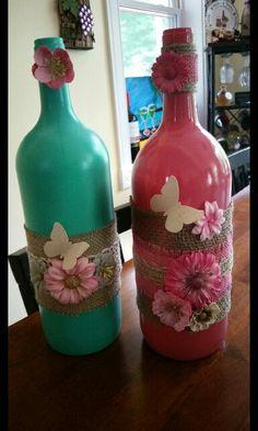 Wine bottle decorations.