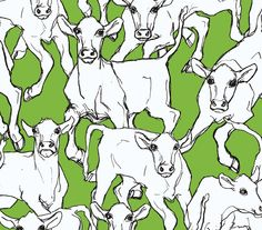 14105 - Marimekko 5 Cows White Green Galerie Wallpaper for sale online Marimekko Wallpaper, Cow Wallpaper, Eclectic Wallpaper, Wallpaper For Sale, Cream Wallpaper, Contemporary Wallpaper, Wallpaper Roll, Lime Green Wallpaper, Animal Wallpaper