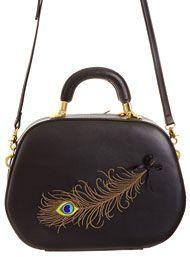 Handbags - Vintage Style Pretty Peacock Feather Purse by Banned Apparel Inc Handbags